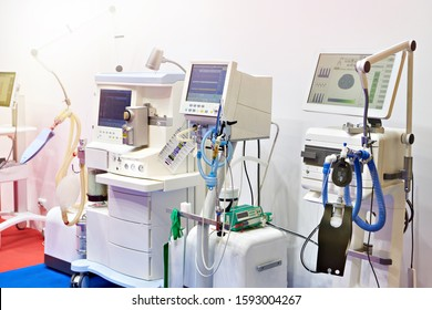Medical ventilators on store exhibition