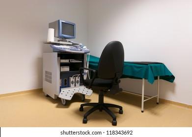 Medical-diagnostic equipment room. Therapeutic and diagnostic rooms with medical equipment.