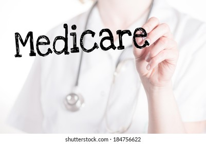 Medicare - Doctor on white background