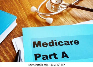 Medicare Part A documents with stethoscope.