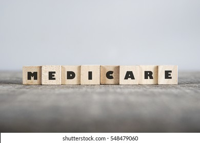 MEDICARE word made with building blocks