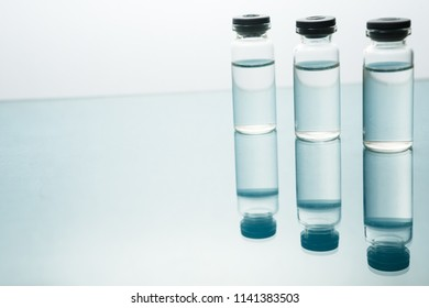 Medication drug needle syringe drug,medical Vaccine vial hypodermic injection treatment disease care in hospital and prevention illness.selective focus.