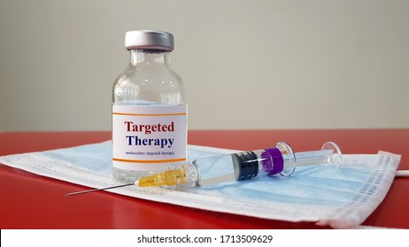 Medication of Targeted therapy used for treatment or prevention cancer by targeting specific gene and molecular cell. Medical oncology genetic molecularly cell and research tumor technology concept.