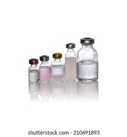 Medication vials ampule many size isolation whit clipping path(with shadow)