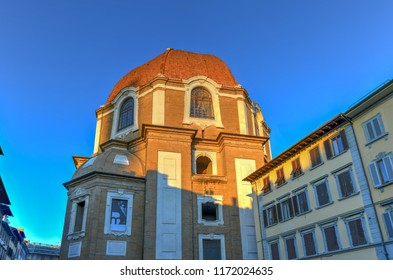 Medici Chapel celebrating the Medici family, patrons of the church and Grand Dukes of Tuscany in Florence, Italy