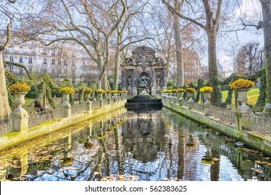 Medici Fountain in the Luxembourg Garden (Jardin du Luxembourg), Paris, France.