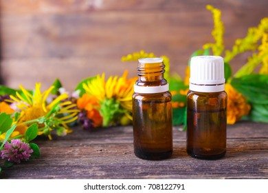 medicinal herbs in a bottle