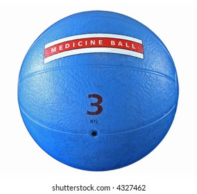 A medicine ball is isolated on a white background.