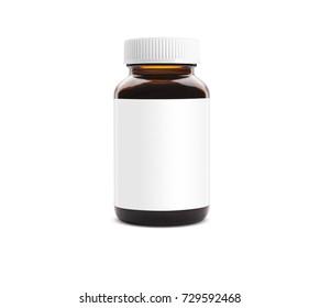 Medicine bottle blank label with cap