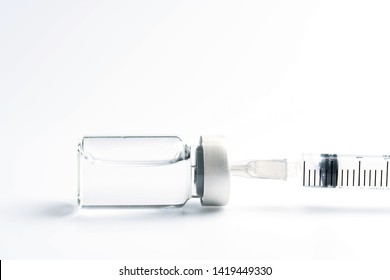 medicine bottle for injection medical glass vials and syringe for vaccination