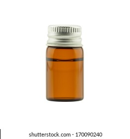 Medicine bottle isolated on white background