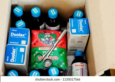 medicine box for patients,15july2018,dhaka,Bangladesh