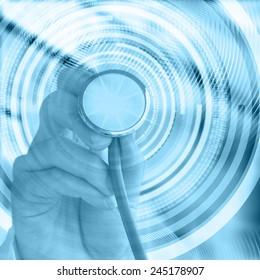 Medicine concept. Blue background