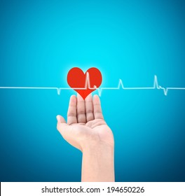 Medicine doctor working pushing the heart
