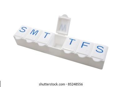 medicine dose box,isolated