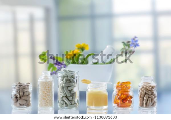 Medizin, Gesundheit, Arzneimittel Nahrungsergänzungsmittel und Homöopathie