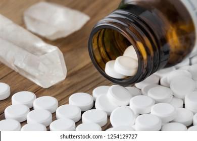 Medicine Schuessler salts and spoon