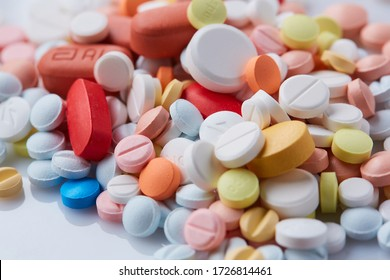 Medicine for treatment HIV infection. HIV/AIDS HAART - highly active antiretroviral therapy. heart attack treatment. Pills background