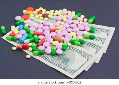 Medicines costs money. Drugs and dollars