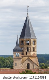 Medieval abbey in the historic centre of Cluny town, France