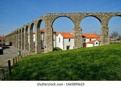 Medieval aqueduct in Vila do Conde, Portugal