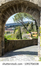 Medieval arch in Bolsena, province of Viterbo, Italy, Europe