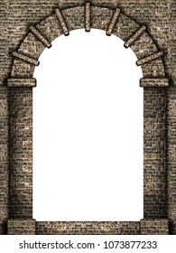 Medieval arch isolated 3d illustration
