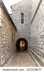 Medieval architecture and fortifications of  Krk town, capital of Krk island, Croatia