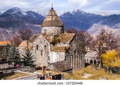 Medieval Armenian christian church Sanahin monastery in Lori region, Armenia