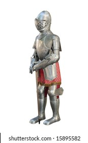 Medieval armor isolated over white w/ clipping path saved on file
