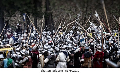 Medieval battle (reconstruction) Czech Republic, Libusin, 25.04.2015
