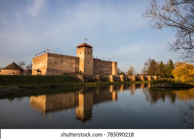 Medieval brick fortress or castle of Gyula in Hungary