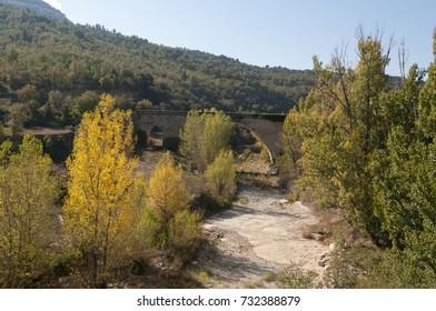 Medieval bridge in the Maestrazgo, Castellon, Spain