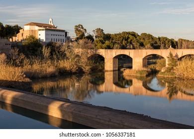 Medieval bridge of Santa Quiteria built in the 13th century