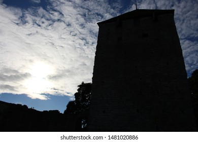 Medieval Building in Visby, island of Gotland in Sweden, evening light