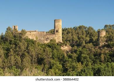 Medieval buildings in Catalunya (Spain) at summer