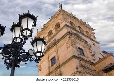medieval buildings in the historic city of Salamanca, Spain