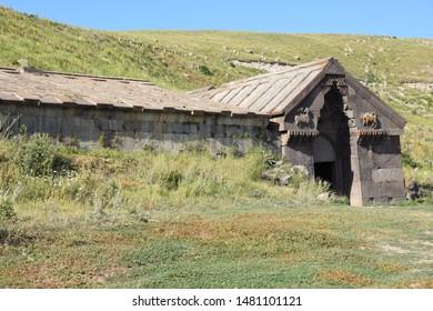 Medieval caravanserai at Selim pass in Armenia