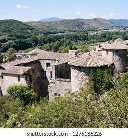 Medieval castle in Ardeche, France
