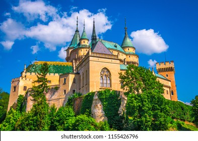 Medieval castle in Bojnice. One of the most popular castles in Slovakia.