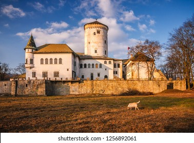 Medieval castle Budatin near by Zilina, central Europe, Slovakia.