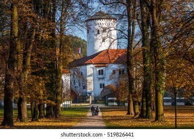 Medieval castle Budatin with park near by Zilina, central Europe, Slovakia