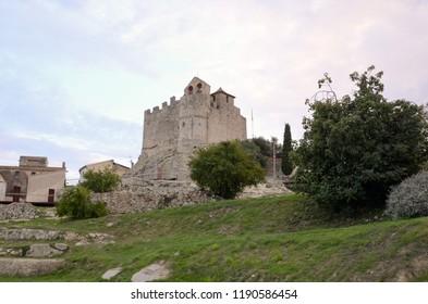 Medieval castle of Calafell at sunset - Tarragona - Spain