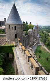 The medieval castle of  Carcasonne in the Languedoc area, a UNESCO World Heritage Site