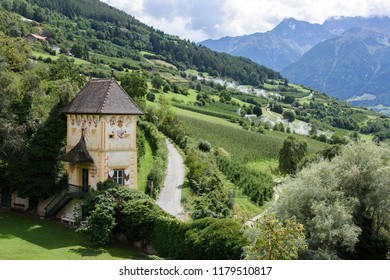 The medieval castle of Churburg in the village of Schluderns in Vinschgau, South Tyrol