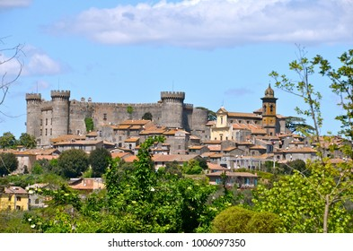 Medieval Castle dominating the town of Bracciano in central Italy