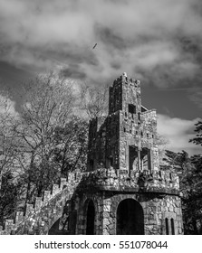Medieval Castle Fort Lookout Tower in Sintra