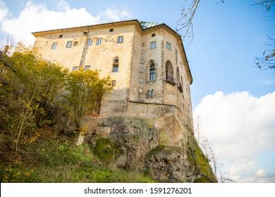 Medieval Castle Houska in north Bohemia in autumn time, Czech republic