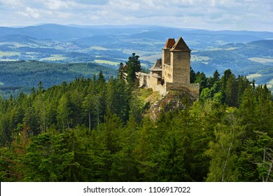 Medieval castle Kasperk in the National park Sumava, Czech republic.