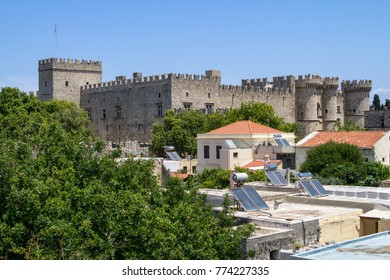 Medieval castle of Knights Grand Master Palace on Rhodes island, Greece